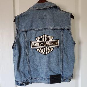 Vintage HARLEY-DAVIDSON Denim Vest Size Sm